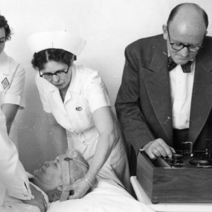 Electro Convulsive Therapy treatment in the mid-1950's